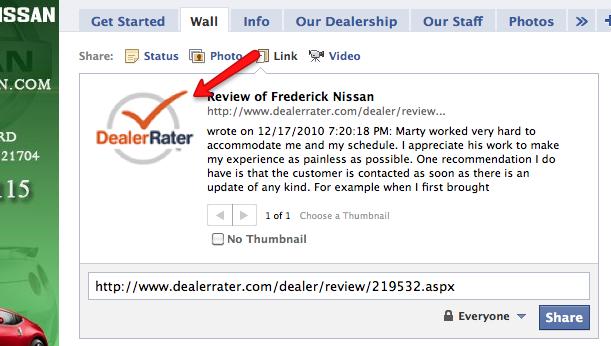 DealerRater Logo on Facebook