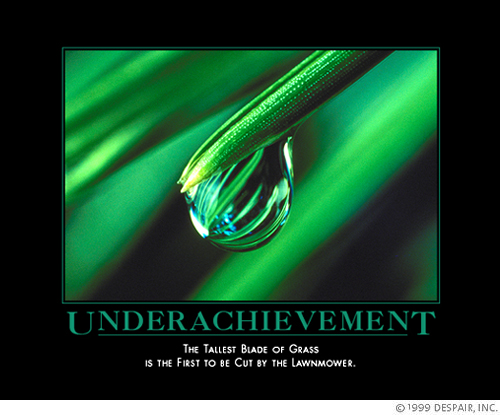 image of underachievement