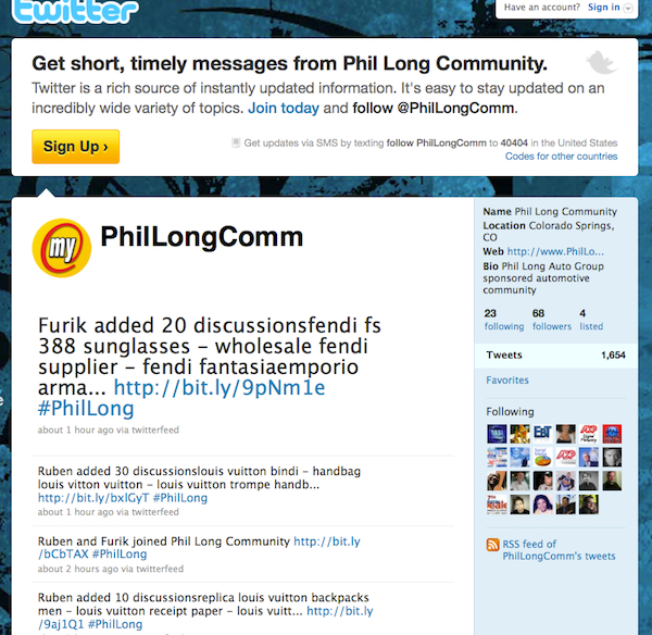 Phil Long Twitter Screen Shot
