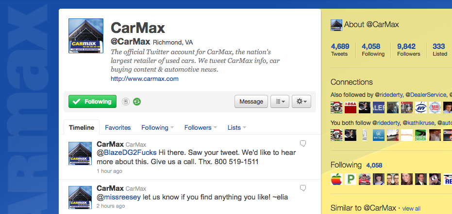 carmax twitter screenshot