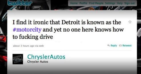 image of chrysler tweet