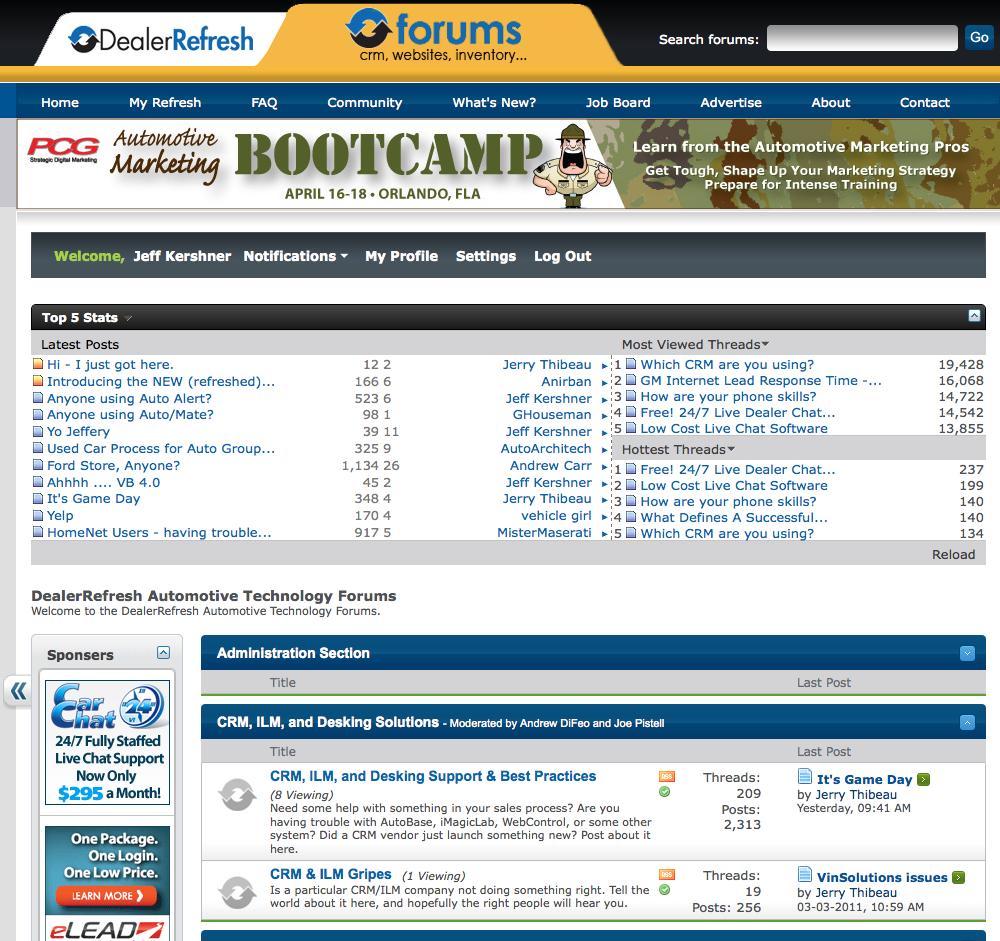 new dealerrefresh dealer forums