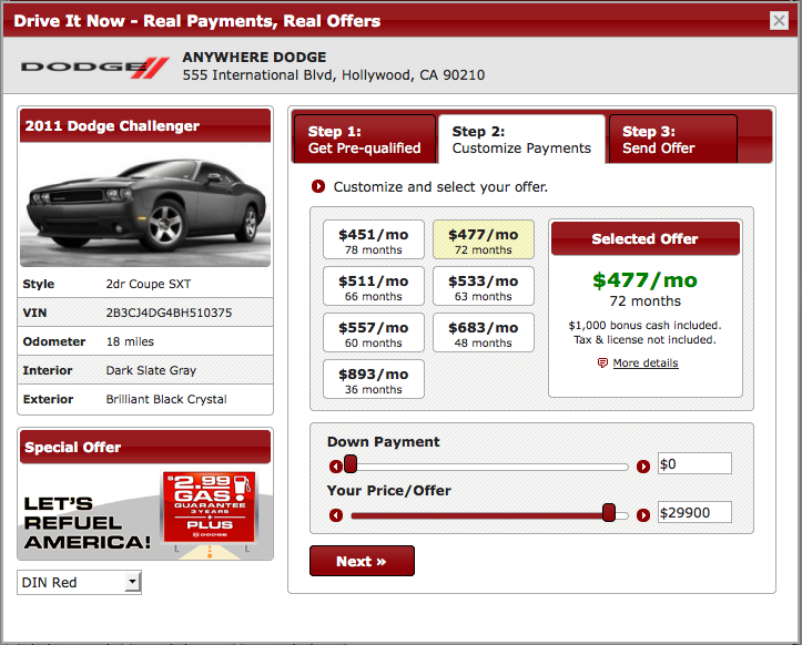 image of driveitnow choose payment