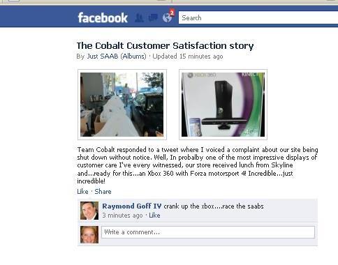 Just Saab Facebook - Cobalt redemption