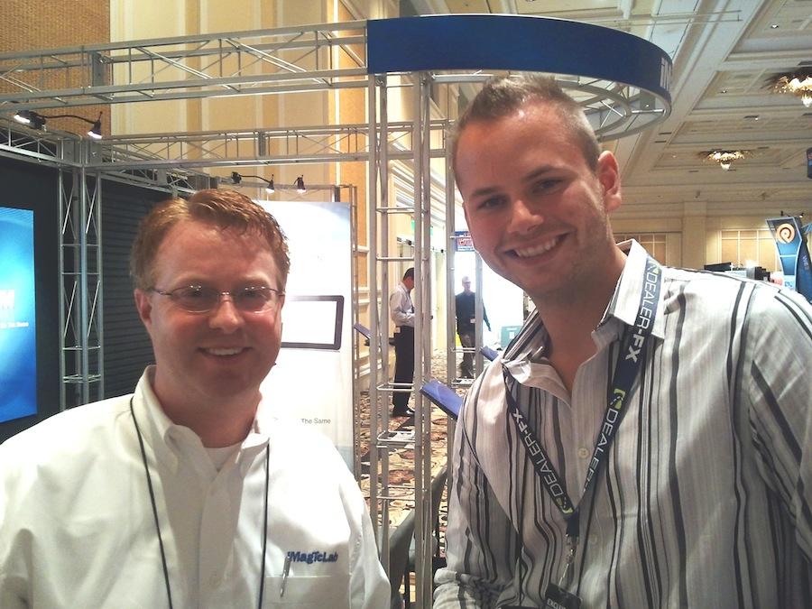 Tom Harsha and Kevin Gordon at Digital Dealer 11