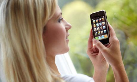 Girl on iphone