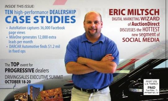 Eric Miltsch DrivingSales Announcement