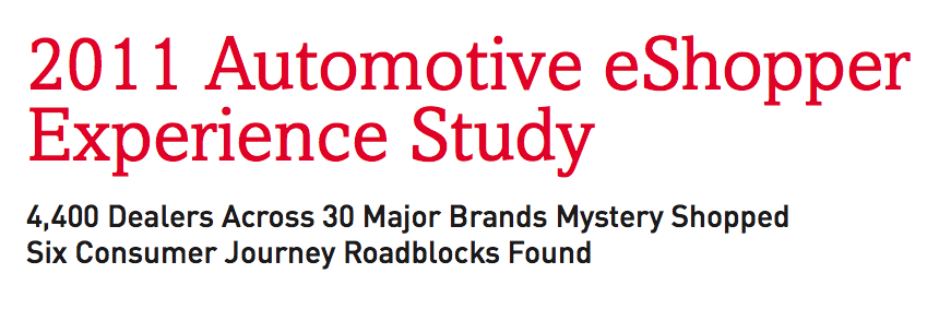 eShopper Automotive Experience Study
