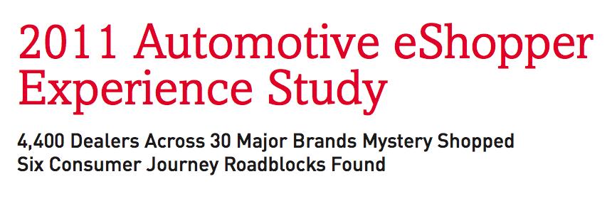 eShopper Automotive Experience Study