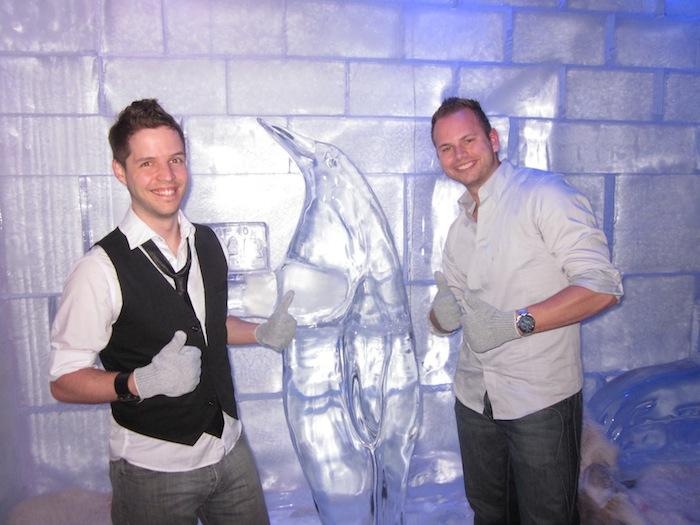 Nick Williams and Kevin Gordon at Ice Bar at Digital Dealer 12