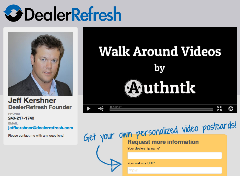 DealerRefresh Branded Authntk Landing Page
