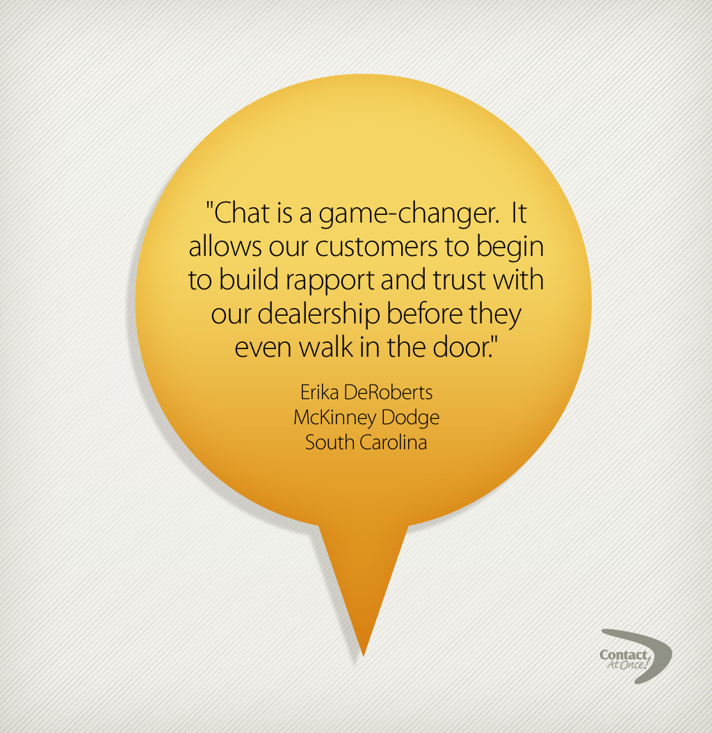 CHat is a game changer quote bubble