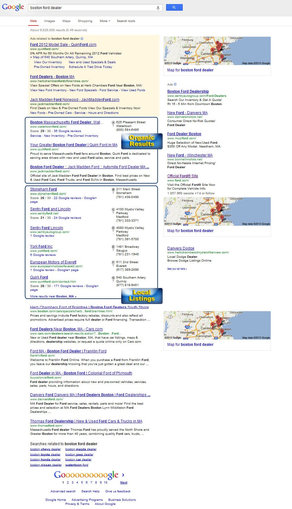 Desktop Chrome Browser SERP
