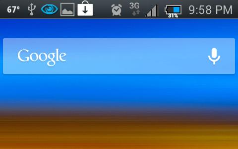 Google Mobile Search Bar