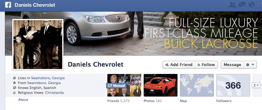Daniels Chevrolet on Facebook