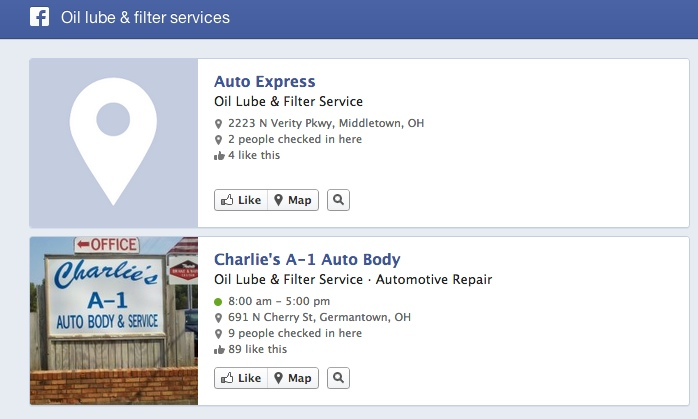 Facebook Graph search oil lube