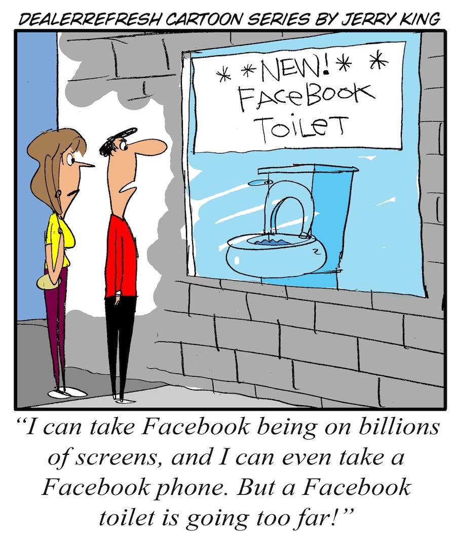 DealerRefresh Facebook Toilet
