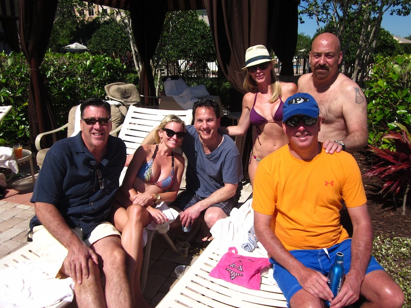 "Kicking off Digital Dealer with ""Digital Beach One"" - poolside with Jerry Thibeau and friends"