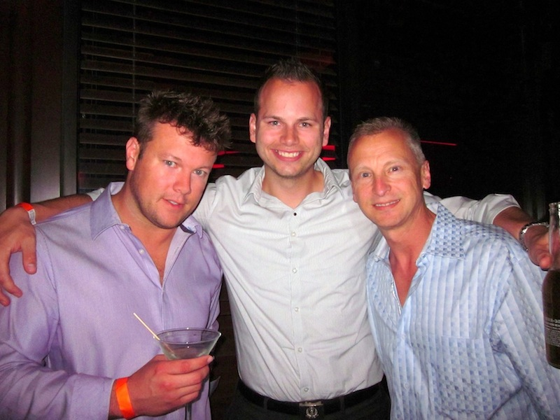 Jeff Kershner and Kevin Gordon get a head-start on me at The Blue Martini