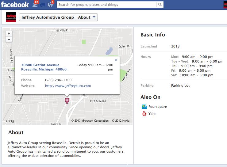 dealer page showing description fields