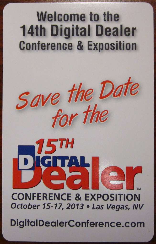 Save the date for Digital Dealer 15!