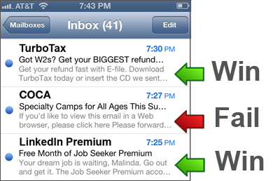 mobile email pre-header