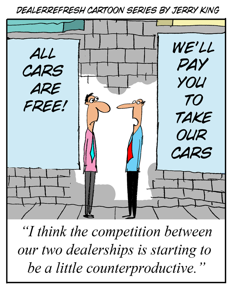 dealer competition cartoon