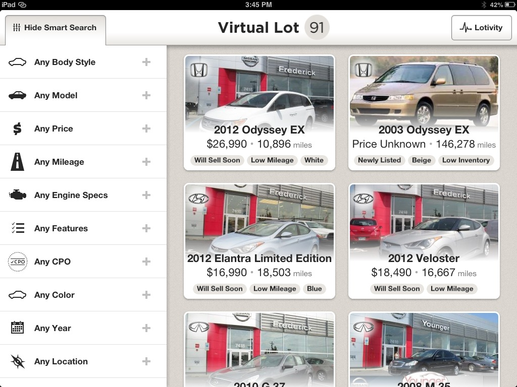 Searching CarStory App