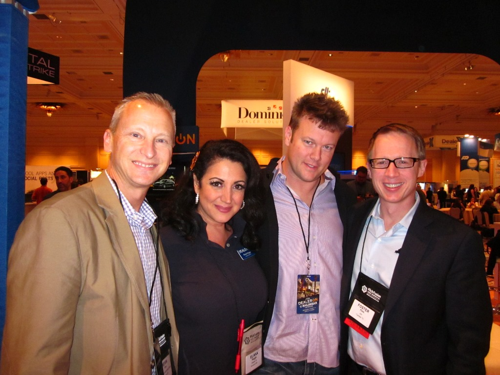 Meeting some of my favorite folks at the DealerOn booth - Elianna Raggio, Jeff Kershner, and Jim Flint