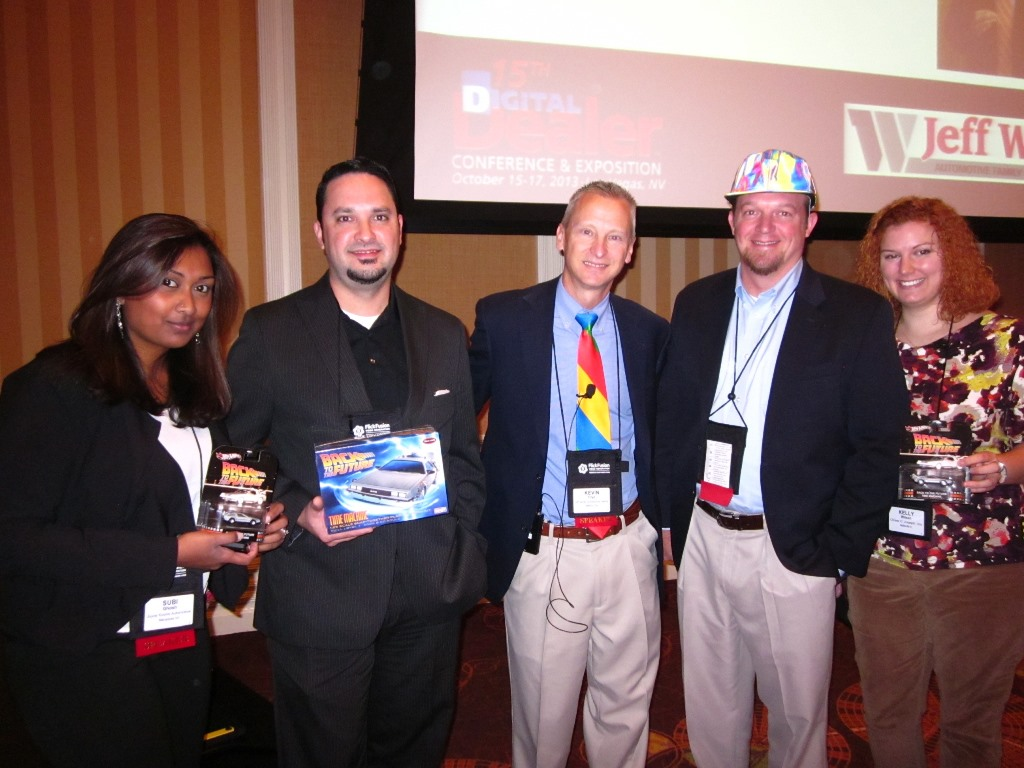 Subi Ghosh, Kevin Frye, Ryan Leslie, and Kelly Sue Wilson with some give-aways from my presentation. Check out Ryan's hat!