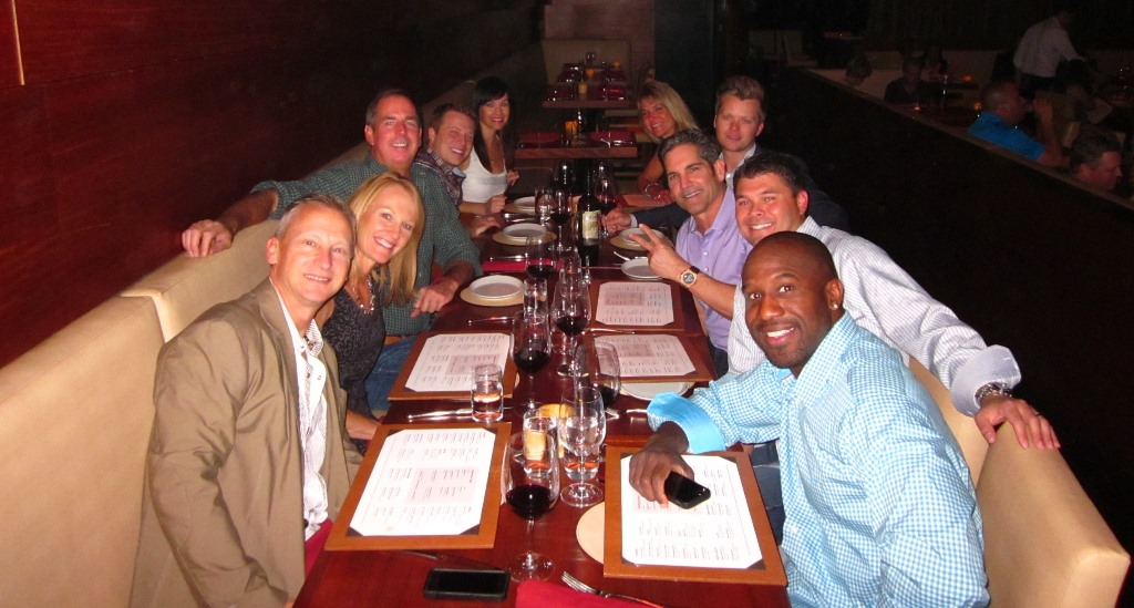 """""""Generous Jerry"""" Thibeau treats us to dinner at DD15 - thank you!"""