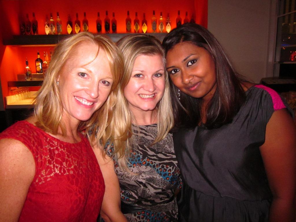 Julie Frye, Katie Richter, and Subi Ghosh enjoy the DealerOn Party at Rhumbar