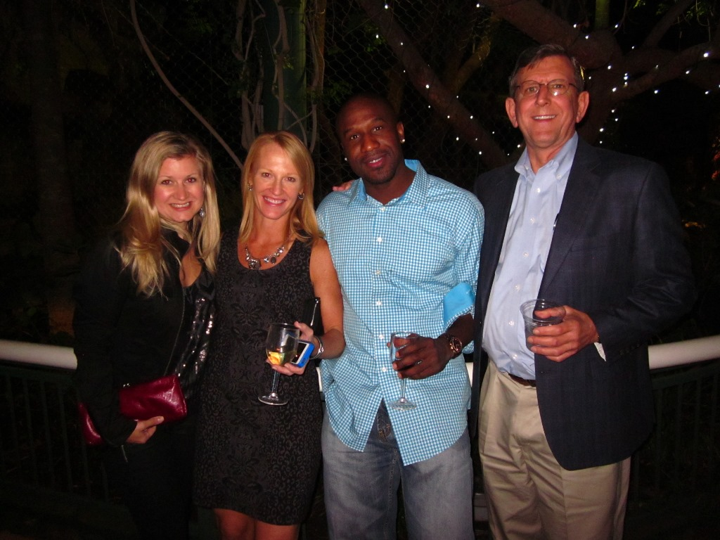 Katie Richter, Julie Frye, Alex Jefferson, and Bill Simmons enjoying the VinSolutions Reception - AWESOME!