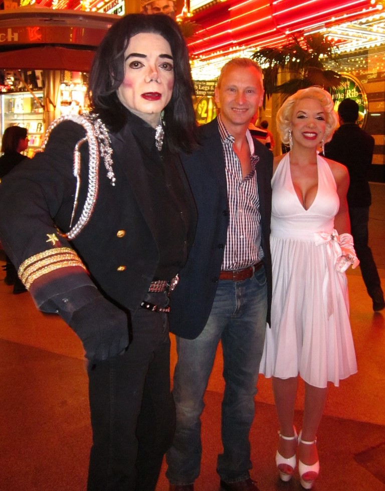 Hoping that Marilyn is squeezing my bum, but afraid it is Michael...