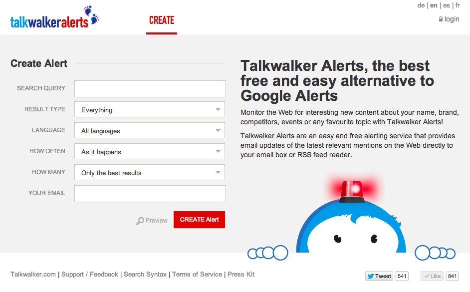 Use TalkWalker Alerts to replace Google Alerts
