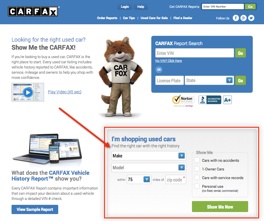 carfax introduces new used car listing website dealerrefresh. Black Bedroom Furniture Sets. Home Design Ideas