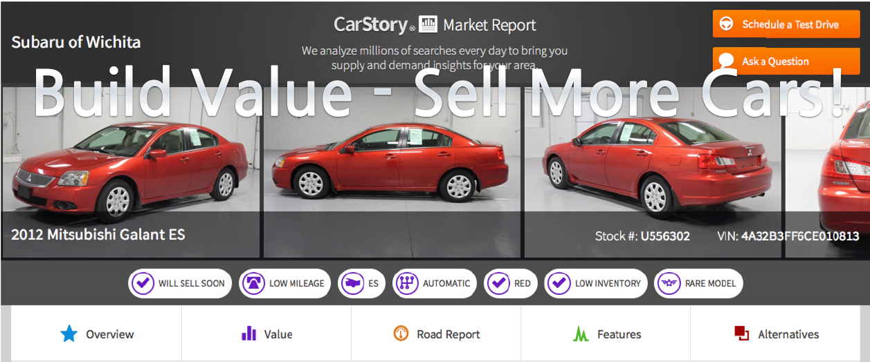 Value Build Data Reports Help You Sell More Cars