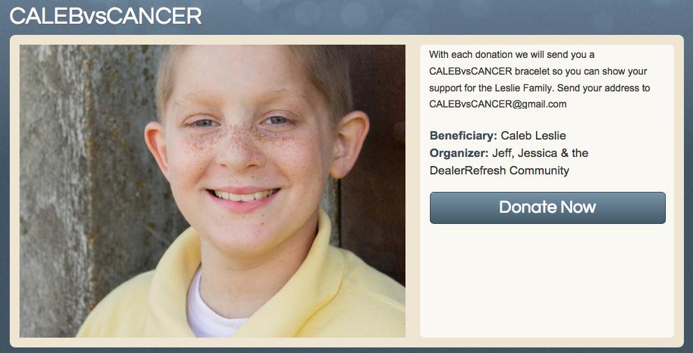 Caleb Donation Header