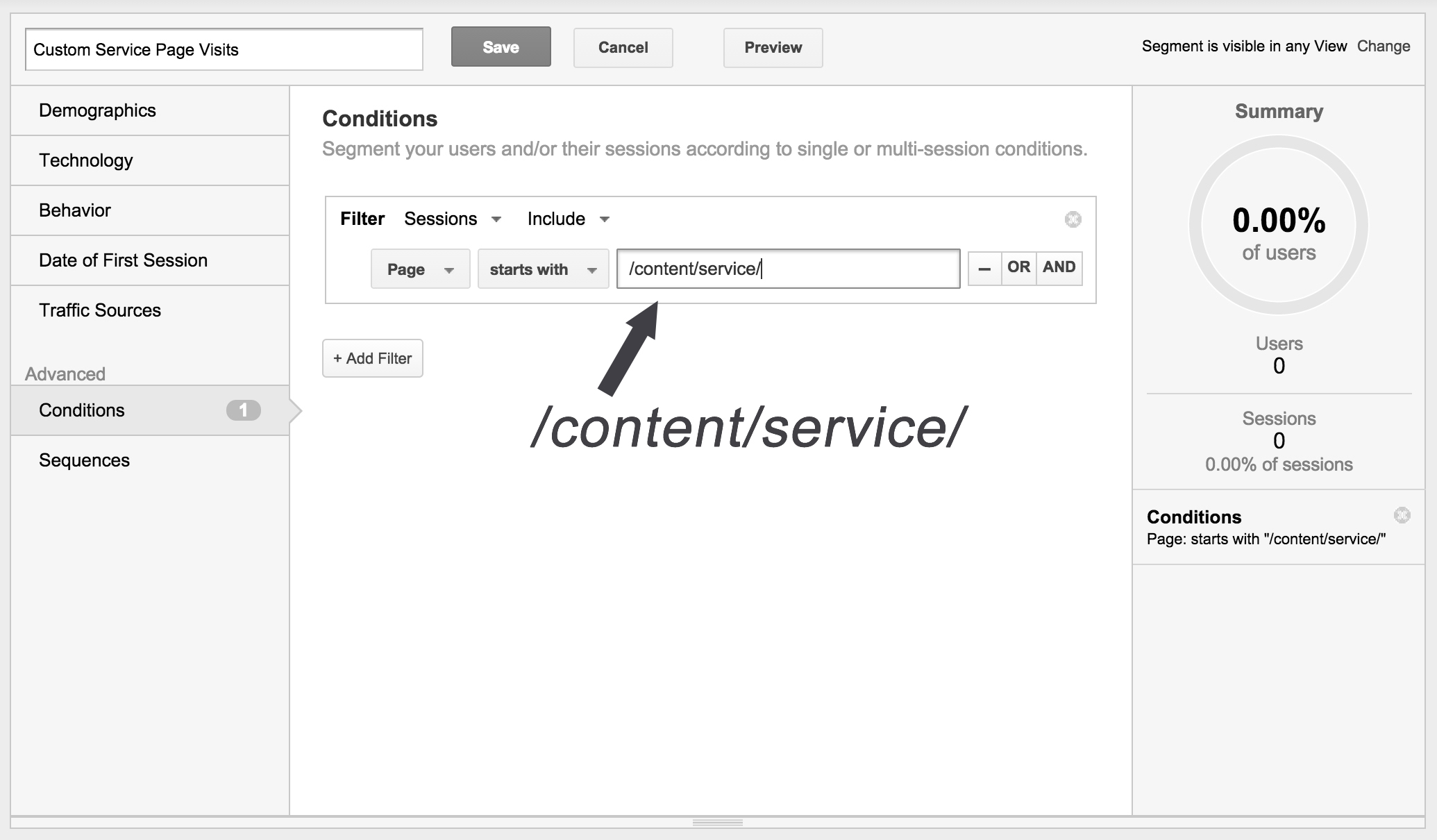 Custom-Segment-Service-Pages