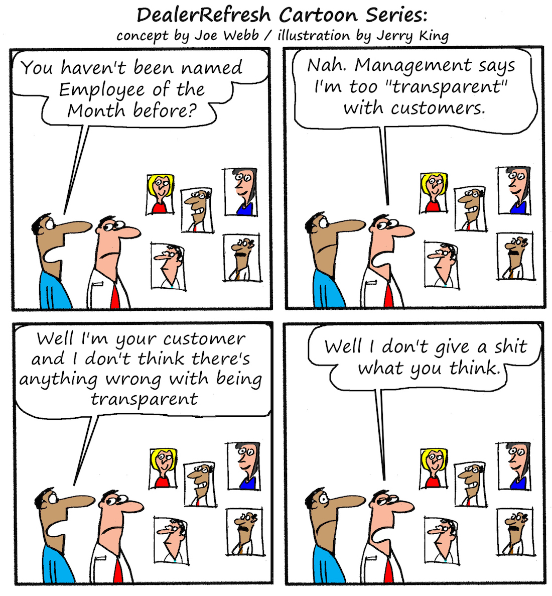 DealerRefresh cartoon series transparent employee of the month