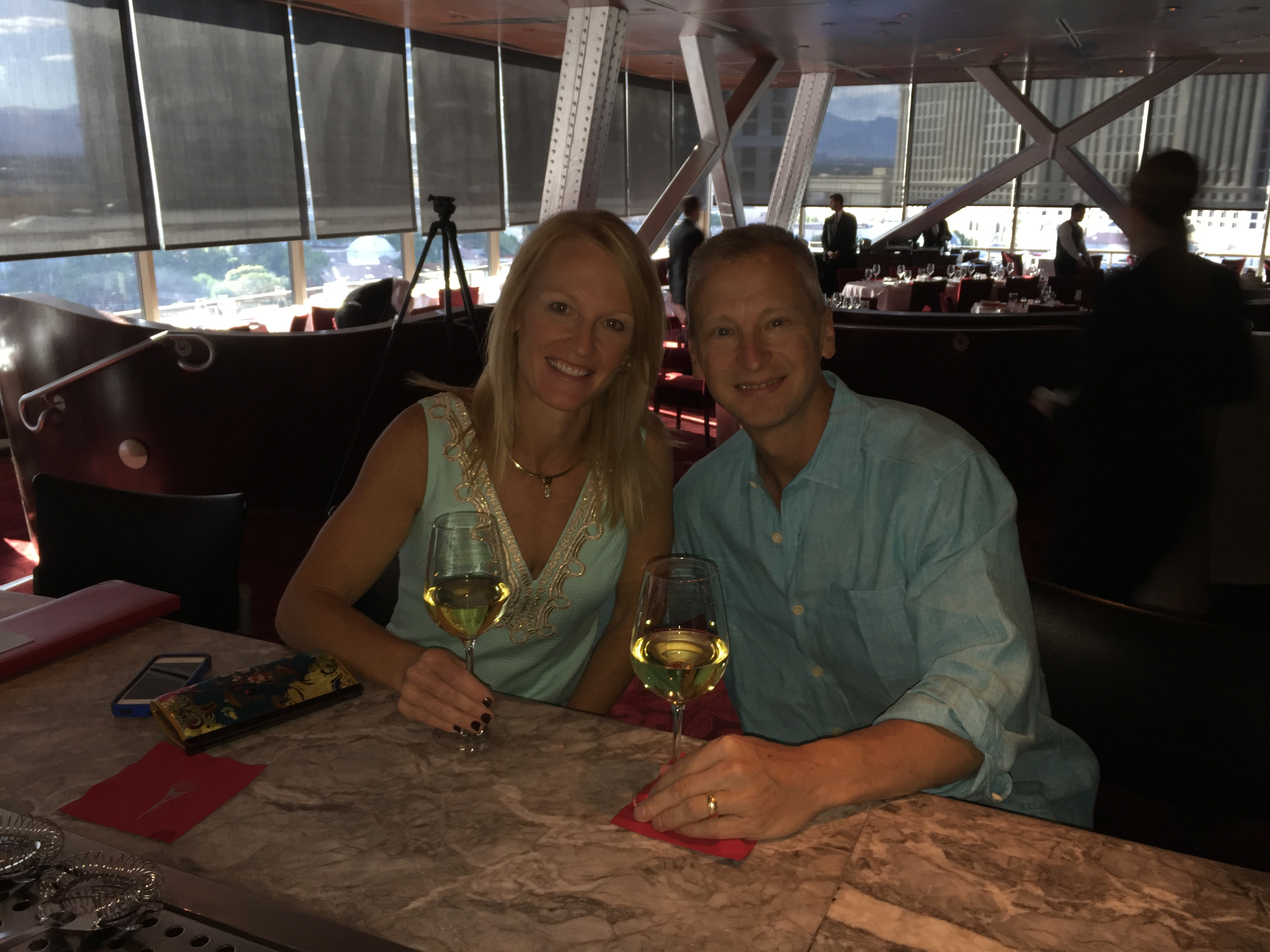 Celebrating our 24th Anniversary at the Eiffel Tower Restaurant