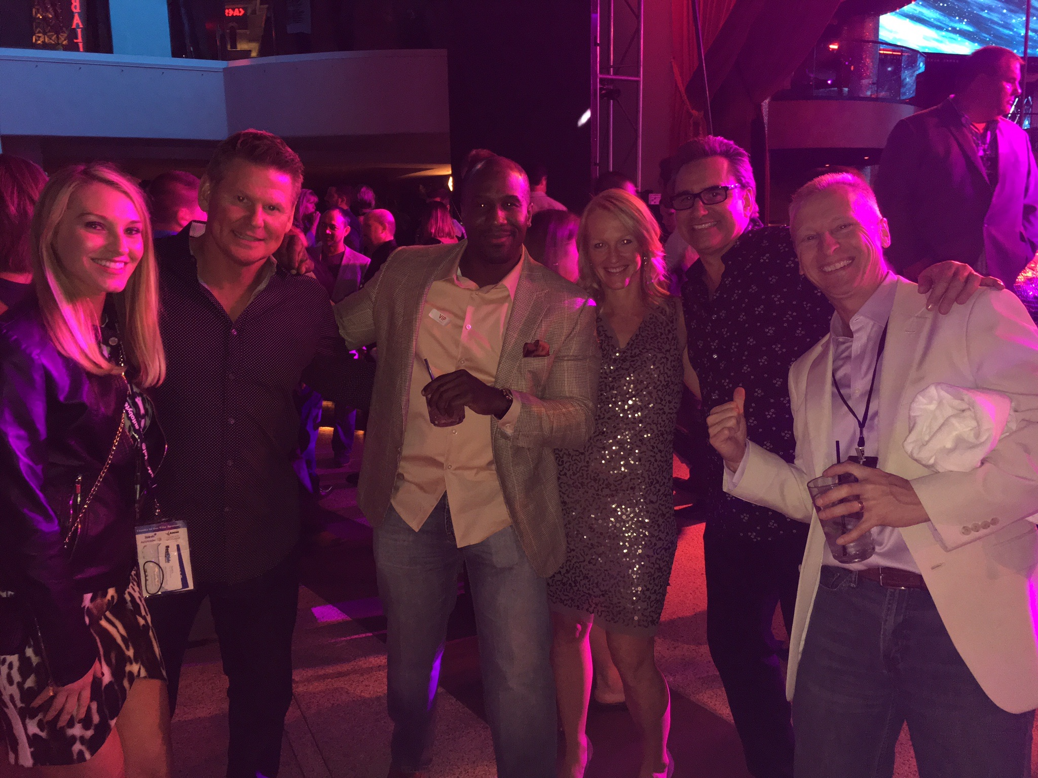 Tim Triplett, Alex Jefferson, Julie Frye, and Mike Roscoe at Drai's Nightclub