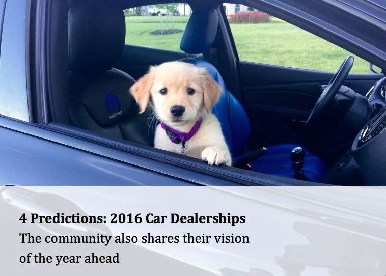 4 Predictions in 2016 for Car Dealerships