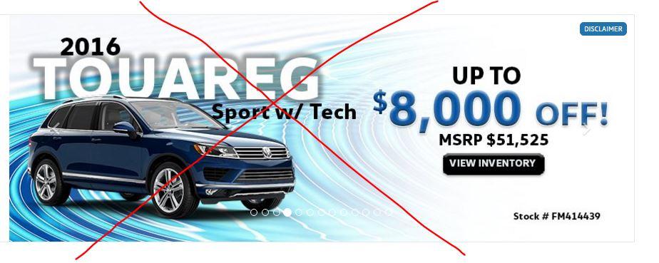 Dealer website Slideshow - VW