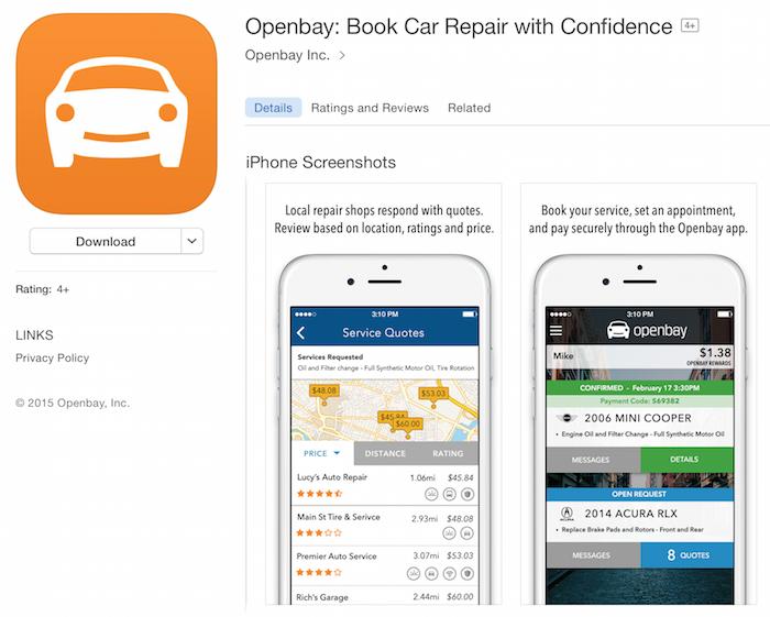 openbay sevice mobile app