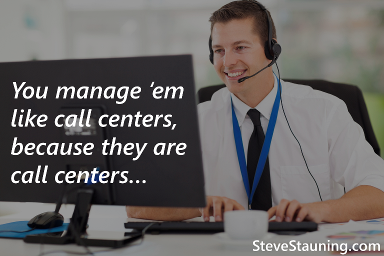 Internet Teams and BDCs Must be Managed Like Call Centers