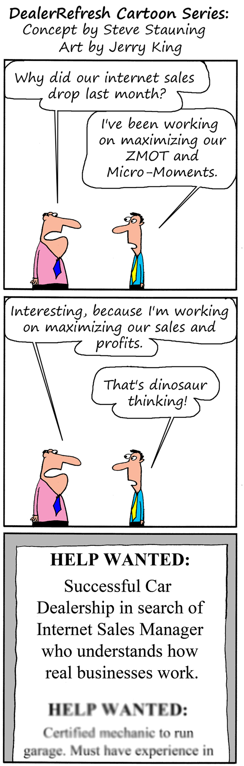 Internet Sales Drop DealerRefresh CartoonSeries