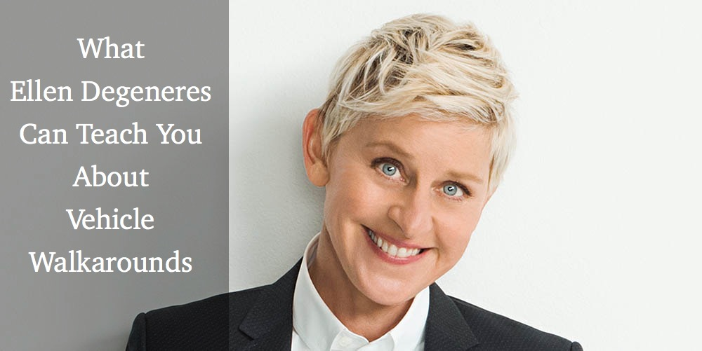 What Ellen Can Teach You About Off-Make Walkarounds
