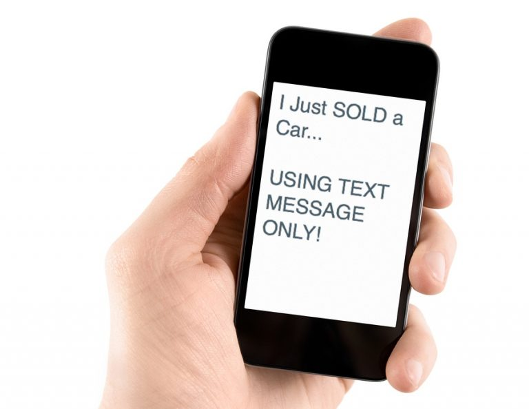 Sold vehicle by text using iphone