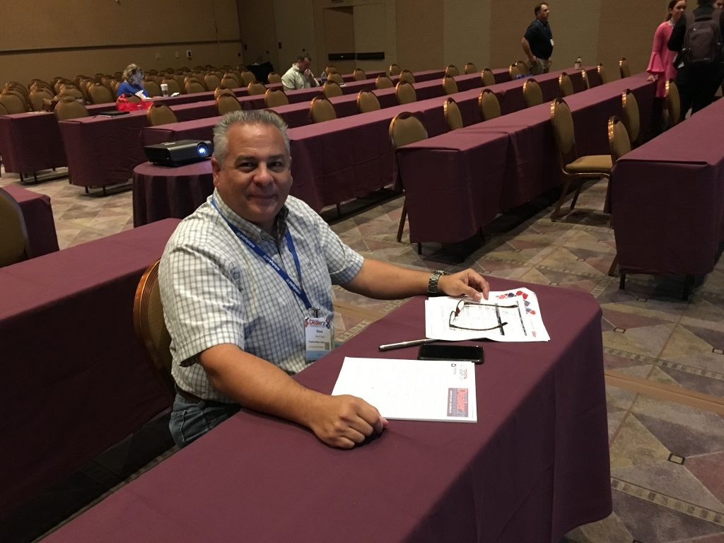 Where you sit is a reflection of your motivation - love seeing our Toyota rep - Dave Cayia - at DD conferences